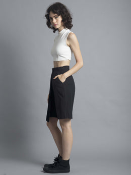 3-Way Pleat Cropped Culotte View 2