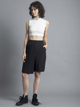 3-Way Pleat Cropped Culotte