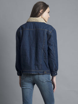 Shearling Denim Jacket View 2