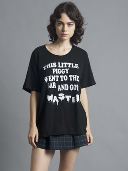 Little Piggy Boyfriend Tee