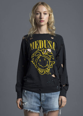 Medusa Destroyed Sweatshirt Black