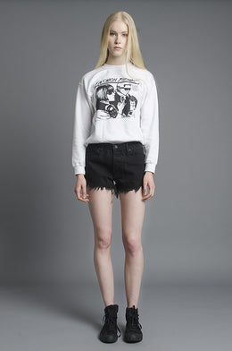 Fashion Fiends Sweatshirt in White View 2