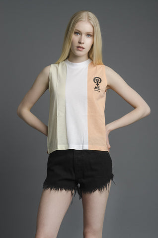 Melody Ehsani x Reebok Tricolor Muscle Tank in Desert Stone