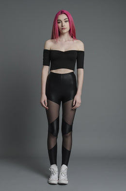 Double Panel Mesh Leggings