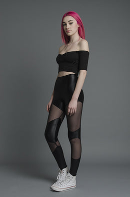 Double Panel Mesh Leggings View 2