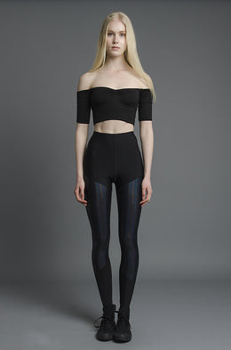 Iridescent Black Leggings