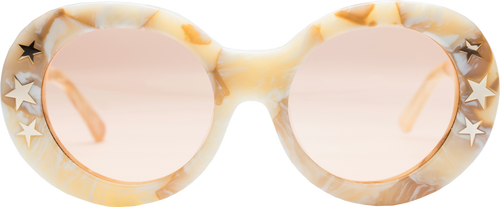 Dakota Sunglasses in Cream Marble