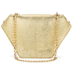 Diamond Bag in Metallic Gold View 2