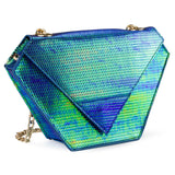 Diamond Bag Iridescent Green
