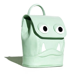 Mini Drool Backpack in Mint Green Patent Leather View 2