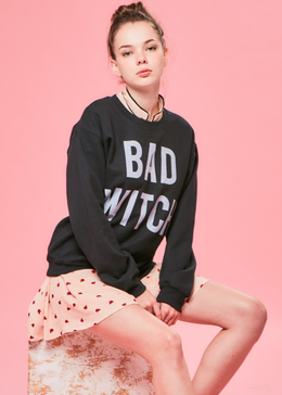 Bad Witch Crewneck in Black
