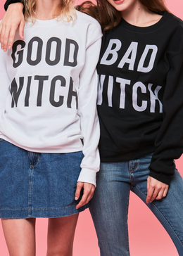 Bad Witch Crewneck in Black View 2