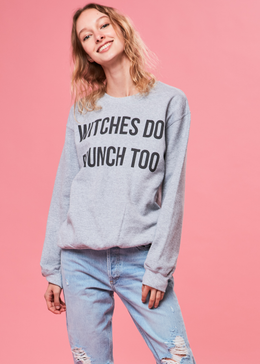 Witches Do Brunch Too Crewneck View 2