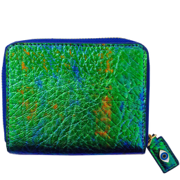 Fold Wallet in Iridescent Green