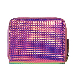 Fold Wallet in Holographic Pink