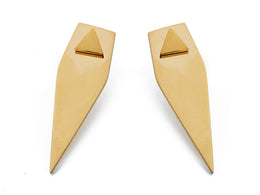 Forget Triangle Earrings - gold / Gold View 2