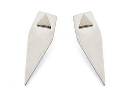 Forget Triangle Earrings in Silver View 2