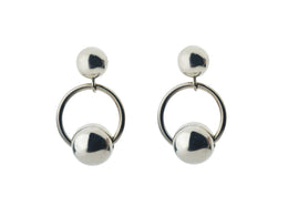 Ginza Earrings in Silver View 2