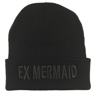 Ex-Mermaid Black Beanie