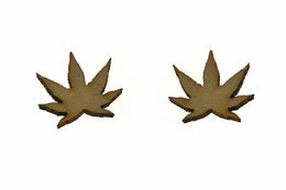Weed Stud Earrings View 2
