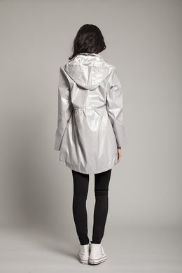 Silver Mist Waterproof Festival Jacket View 2