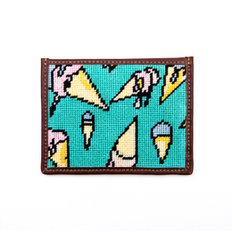 Turquoise Melting Ice Cream Wallet
