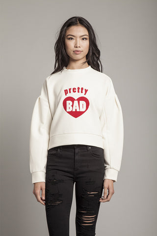 Pretty Bad Sweatshirt in White