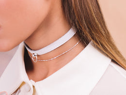 Everyday Choker Silver on White View 2