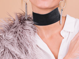 Top Velvet Choker - Grey Green / Grey Green View 2
