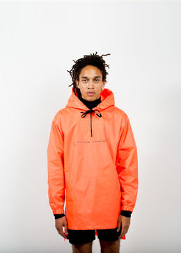 """Im Sad Today But I'll Be Happy Tmrw"" Windbreaker in FL Orange View 2"