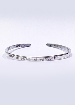 The Future is Female Bracelet in Silver