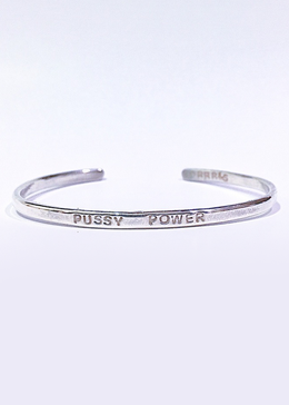 Pussy Power Bracelet in Silver