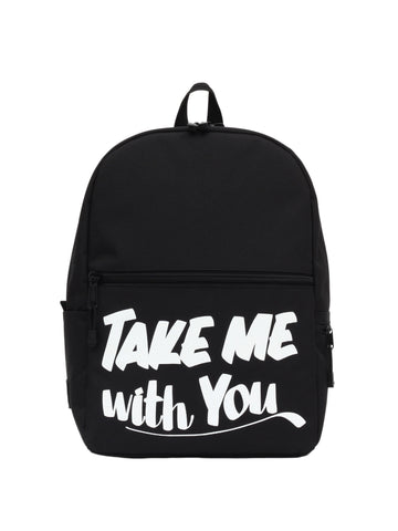 Take Me With You Black Backpack