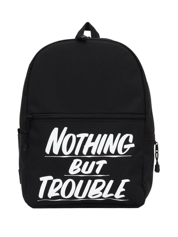 Nothing But Trouble Black Backpack