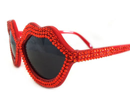 Red Lip Sunglasses View 2