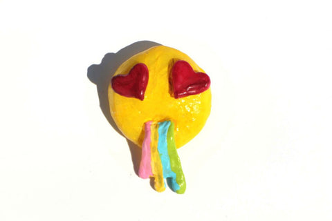 Rainbow Vomit Smiley Broach