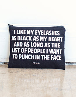 Black Eyelashes, Black Heart Pouch
