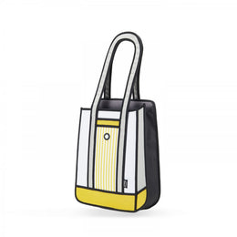 Yellow Stripe Tote Bag View 2