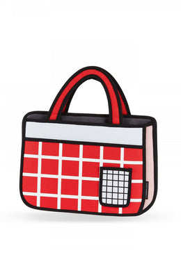 Red Checked Tote Bag