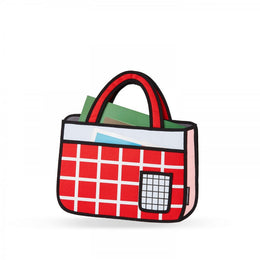 Red Checked Tote Bag View 2