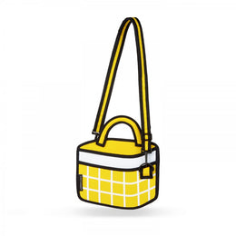 Yellow Checked Handbag View 2