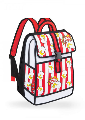 Popcorn Printed Backpack in Red