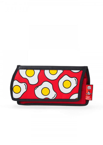 Egg Printed Purse in Red