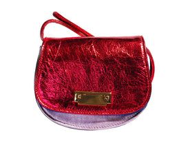 Lulu Bag in Red Metallic