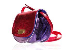 Lulu Bag in Red Metallic View 2