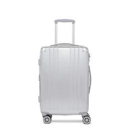 Ambeur Silver Carry On Suitcase