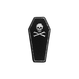 Skull Coffin Embroidered Patch