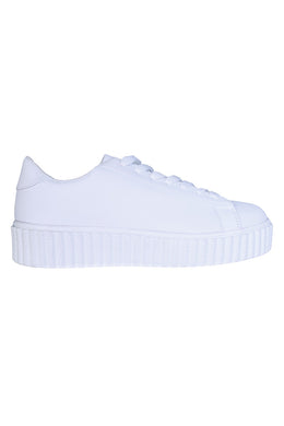 Platform Creeper Sneakers in White