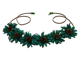 The Emaleigh Large Sunflower Crown in Emerald