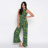 Abstract Floral Jumpsuit